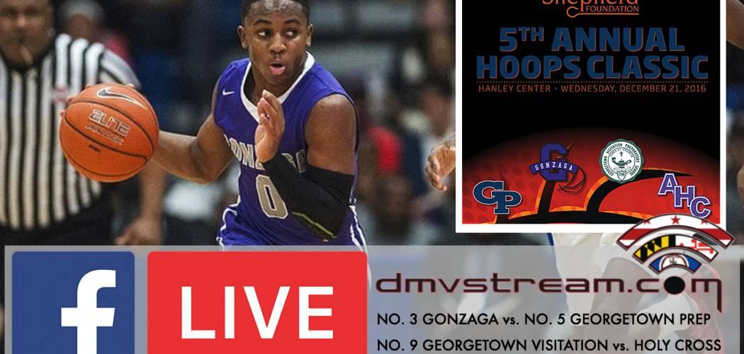DMVSTREAM.COM to Broadcast Gonzaga vs. Georgetown Prep basketball game